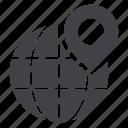 globe, marker, pin icon