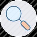 desktop, focus, lens, magnifier, optimization, search, zoom icon
