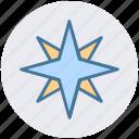arrow, compass, direction, map, navigation, north star, star