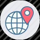 earth, exchanger, global, international, pin, world, world globe icon