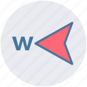 arrow, compass, direction, gps, map, navigation, west icon