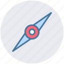 compass, direction, explore, localization, map, navigation, north icon