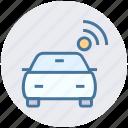 car, internet, signal, smart car, transport, vehicle, wifi icon