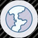 communication, earth, global, globe, map, navigation, world icon
