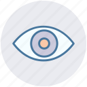 eye, eyeball, human eye, overview, search, view, vision icon