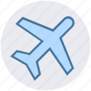 airliner, airplane, delivery, flight, plane, shipping, travel icon