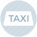 car, delivery, taxi sign, transport, vehicle icon