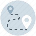 direction, gps, location, map pins, marker, navigation, route location icon