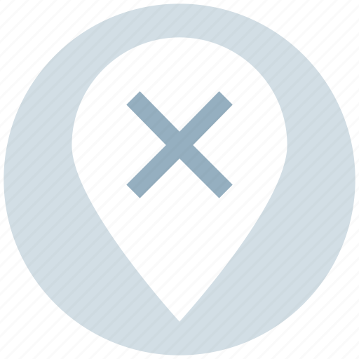 cross, direction, gps, location, pin, remove, wrong icon