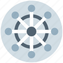 boat handle, handle, marine, sail, ship, ship handle, wheel icon