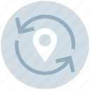 arrows, direction, gps, location, map pin, navigation, pointer icon