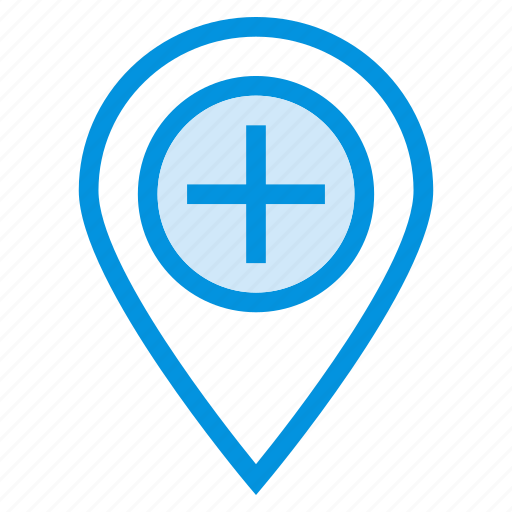 add, gps, location, map, more, navigation, plus icon