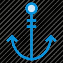 anchor, boat, hook, lifter, sea, ship, shipicon icon