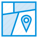 area, gps, location, map, navigation, pin, pointer icon