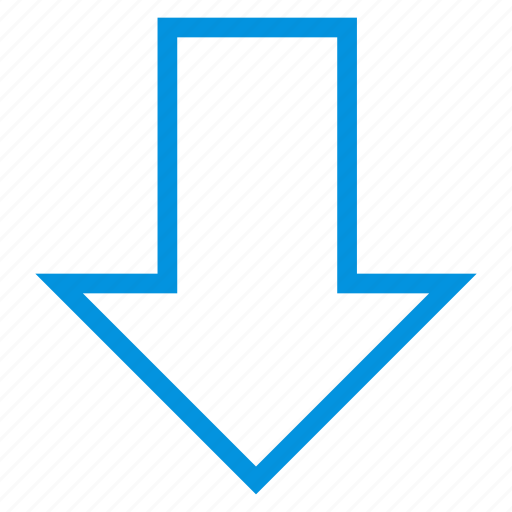 arrow, bottom, direction, down, download, point, pointer icon