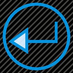 arrow, back, move, pointer, sign icon