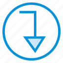 arrow, back, backward, direction, orientation, path, way icon