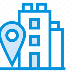 apartment, building, gps, house, navigation, office, school icon