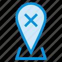 map, pin, cross, remove, close, pointer, delete