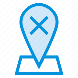 cross, direction, gps, map, navigation, pointer, remove icon