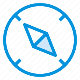arrow, compass, direction, location, map, navigation, path icon