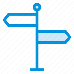 arrow, direction, location, map, navigation, path, way icon