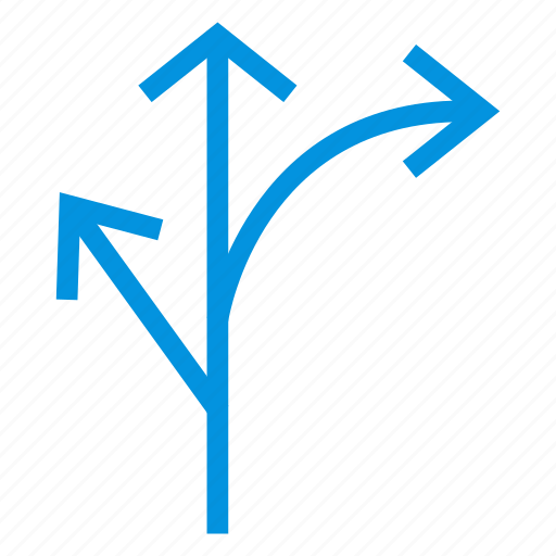 arrow, direction, location, navigation, next, path, way icon