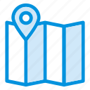 arrows, direction, gps, location, map, navigation, pin icon