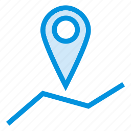 direction, gps, location, navigation, place, pointer icon