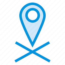 direction, gps, location, map, navigation, pointer, service icon