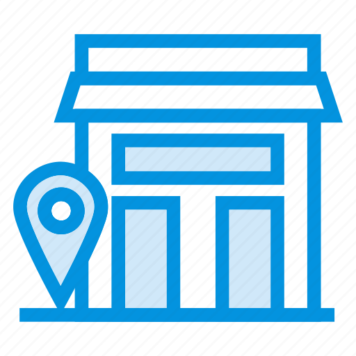 apartment, building, estate, gps, home, house, location icon
