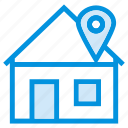 apartment, building, estate, gps, home, house, navigation icon