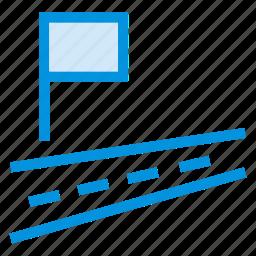 flag, location, mark, pin, streetlight, traffic icon