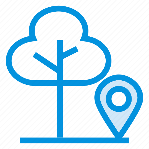 forest, gps, location, nature, navigation, plant, tree icon