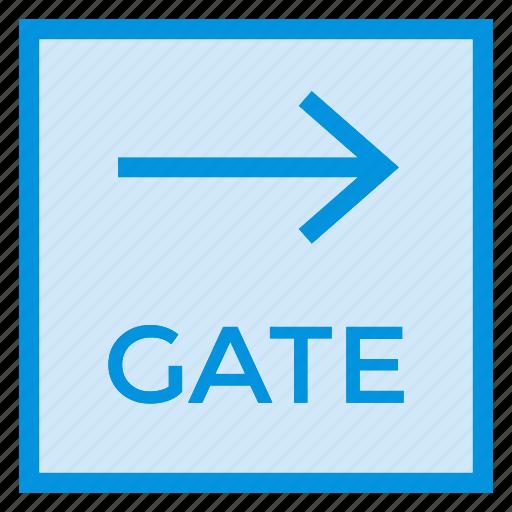 closedoor, door, exit, gate, secure, security, way icon