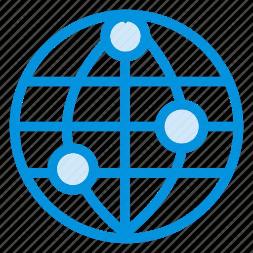 communication, globe, information, internet, location, map, world icon