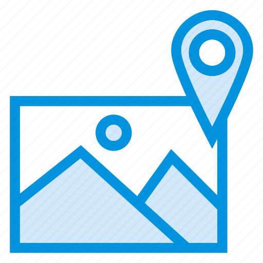 direction, image, location, map, navigation, photo, pointer icon