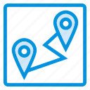 gps, location, map, pin, pointer, tracking, travel icon