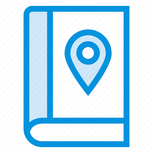 book, direction, gps, location, navigation, pin, pointer icon