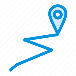 gps, line, location, map, navigatiobn, tracing, track icon