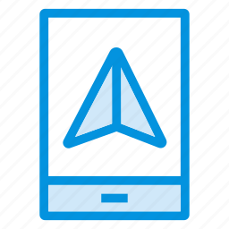 direction, gps, location, mobile, navigation, phone, pointer icon