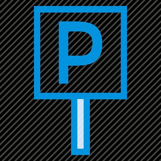 park, parking, road, service, sign, transport, travel icon