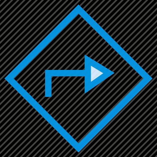 arrow, fastforward, move, next, right, sign, turn icon