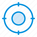 arrow, circle, focus, goals, location, position, target icon