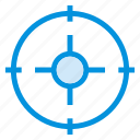 circle, focus, gps, pin, point, position, target icon