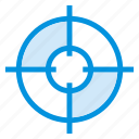 circle, focus, goal, map, navigation, position, target icon