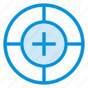 circle, goal, gps, navigation, position, success, target icon
