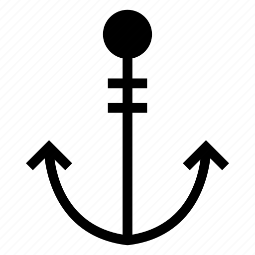 anchor, boat, hook, lifter, sea, ship, shipicon icon