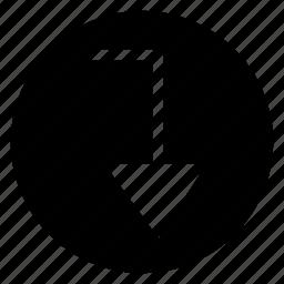 arrow, back, backward, direction, orientation, path, way icon