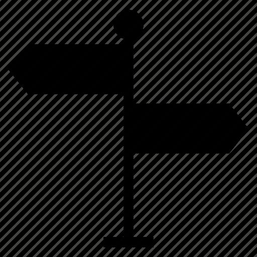 arrow, direction, location, map, navigation, path, way icon